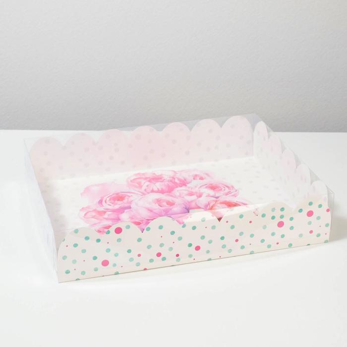 Коробка подарочная с PVC-крышкой «Счастье ждет тебя», 30 × 40 × 8 см - фото 308984953