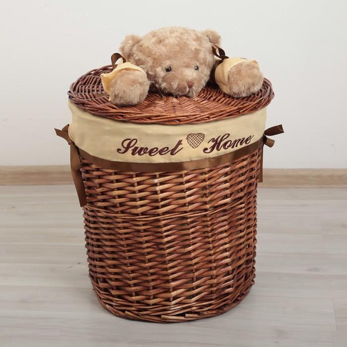 Корзина универсальная плетёная «Медвежонок», 29×29×27 см, цвет коричневый - фото 2176531