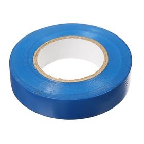 Electrical tape IEK, PVC, 15 mm x 20 m, 130 μm, blue