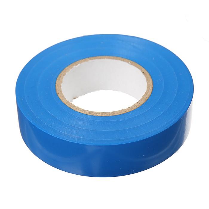 Изолента IEK, ПВХ, 19 мм х 20 м, 180 мкм, синяя