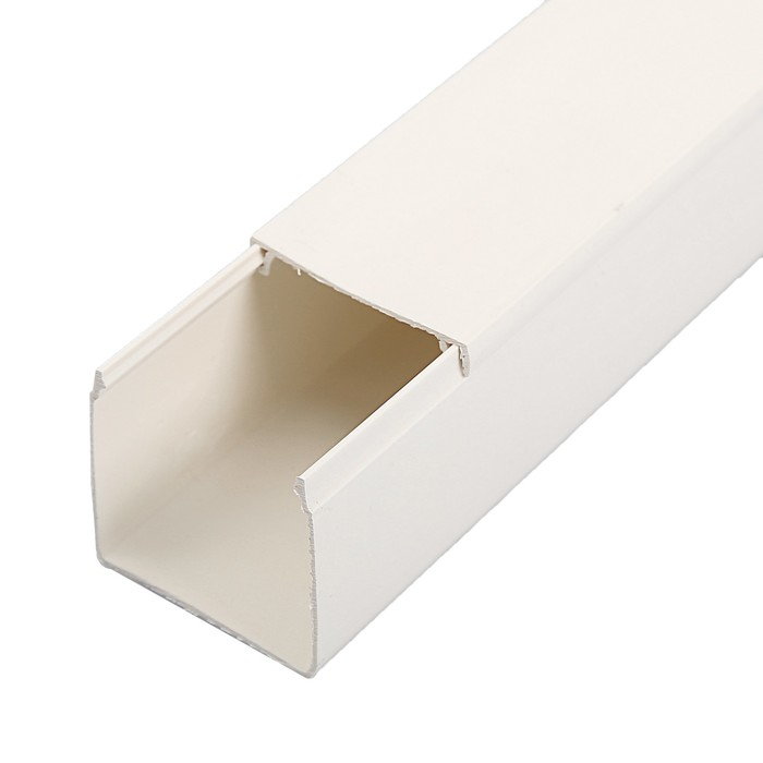 Кабель-канал IEK ECOLINE, 40х40 мм, L=2000 мм, пластик, белый