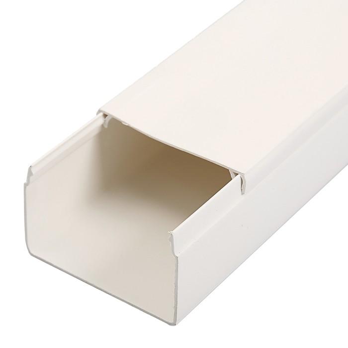 Кабель-канал IEK, серия ECOLINE, 60х40 мм, L=2000 мм, пластик, белый, CKK11-060-040-1-K01-01   37424