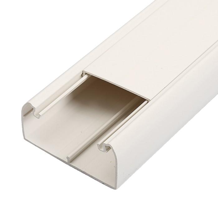 Кабель-канал IEK, серия ПРАЙМЕР, 80х40 мм, L=2000 мм, пластик, белый, CKK40-080-040-1-K01
