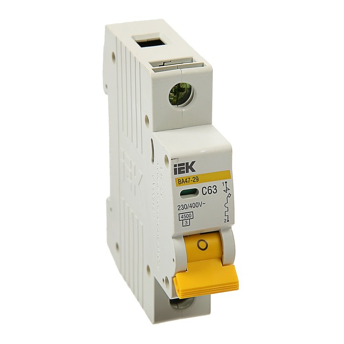 Выключатель автоматический  IEK, ВА47-29, 1п, 63 А, 4,5 кА, характеристика С, MVA20-1-063-C   374253