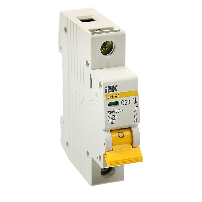 Выключатель автоматический  IEK, ВА47-29, 1п, 50 А, 4,5 кА, характеристика С, MVA20-1-050-C   374253