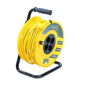 Удлинитель на катушке IEK Industrial, УК50, 4 розетки, 50 м, с термозащитой, 3х1.5 мм2,