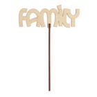 """Топпер """"Family"""" 12x4,5 см"""