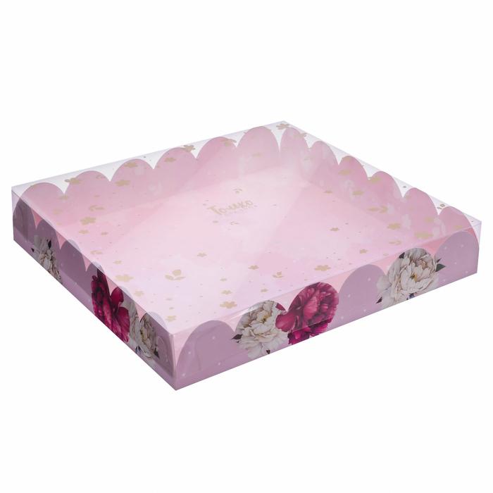 Коробка подарочная с PVC-крышкой «Чудесный подарок!», 35 × 35 × 6 см - фото 308984974