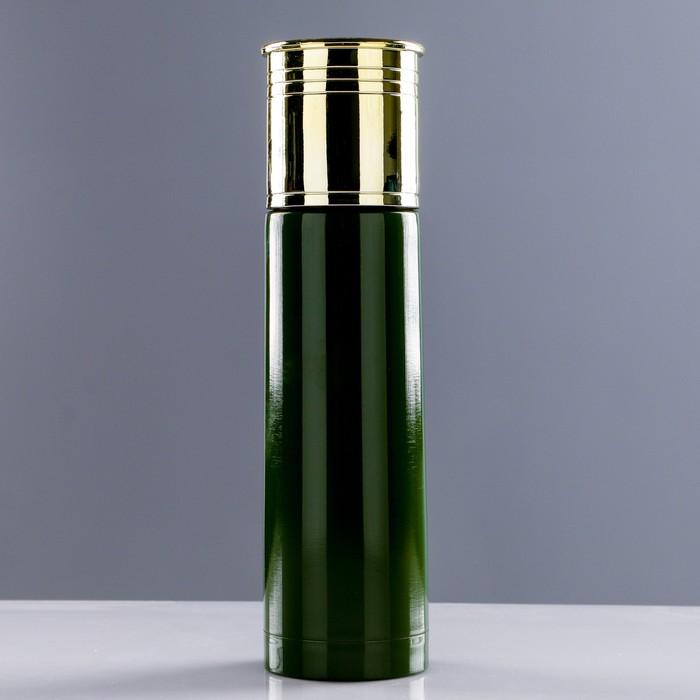 """Термос """"Патрон"""", 500 мл, сохраняет тепло 12 ч, зелёный, 6.5х25 см"""
