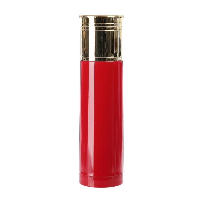 """Термос """"Патрон"""", 500 мл, сохраняет тепло 12 ч, красный, 6.5х25 см"""