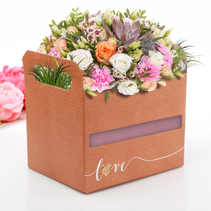 Коробки-ящик «Love», 19,3 × 14,5 × 15 см
