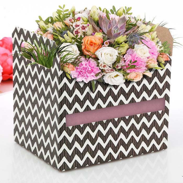 Коробки-ящик «Зигзаг», 19,3 × 14,5 × 15 см
