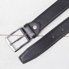 Ремень детский, гладкий, пряжка металл, ширина - 3 см, цвет чёрный - фото 105569558