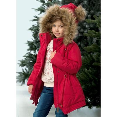 Куртка для девочки, рост 92 см, цвет малиновый