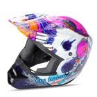 Шлем подростковый кросс YOUTH FLY KINETIC INVAZION white/pink/gloss, S