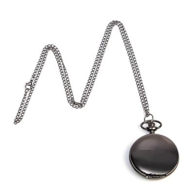 """Часы карманные """"Классика"""", кварцевые, на цепочке, чёрные, d=4.5 см"""