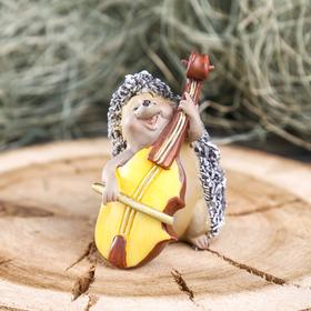 "Souvenir Polyresin ""Hedgehog musician"" 4,5x4,5x7,5 cm MIX"