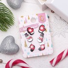 """Пусеты 3 пары """"Новогоднее ассорти"""" снеговик, валенок, варежка, цветные"""