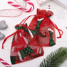 """A bag Christmas """"Shoes"""", 10*12cm, color red-green"""