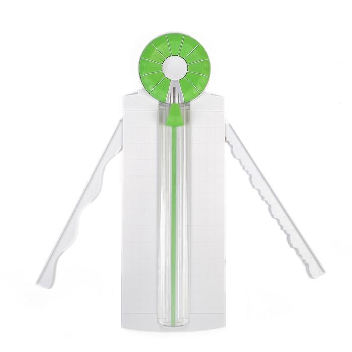 Роликовый резак для бумаги, А4, до 3 листов, безопасное лезвие, широкоформатный, 12 насадок - фото 438353578