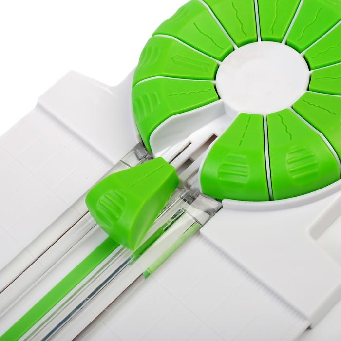Роликовый резак для бумаги, А4, до 3 листов, безопасное лезвие, широкоформатный, 12 насадок - фото 438353579
