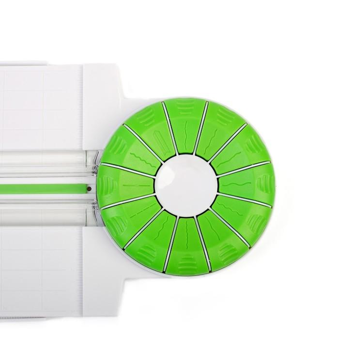 Роликовый резак для бумаги, А4, до 3 листов, безопасное лезвие, широкоформатный, 12 насадок - фото 438353580