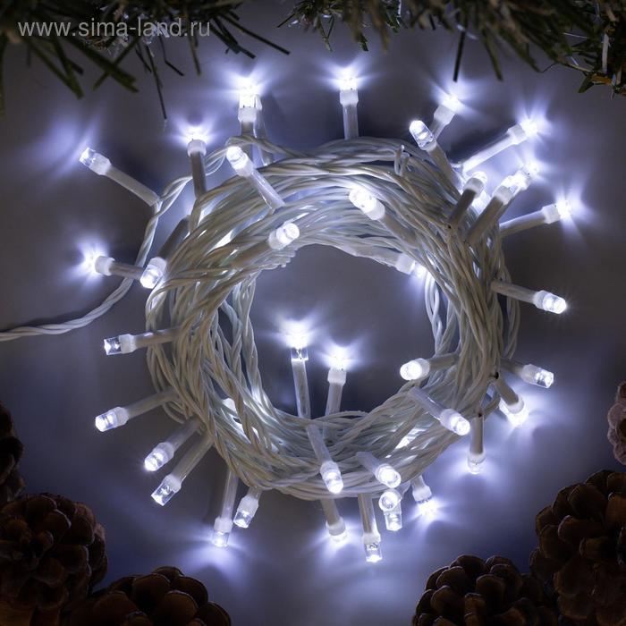 """Гирлянда """"Нить"""", 5 м, LED-50-220V, 8 режимов, свечение белое"""