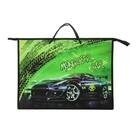Папка А3 с ручками пластик/текстиль, молния сверху, 420х343х50 мм Monstеr car