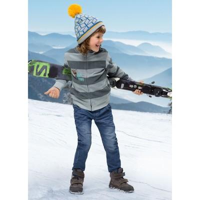 Куртка для мальчика, рост 98 см, цвет серый