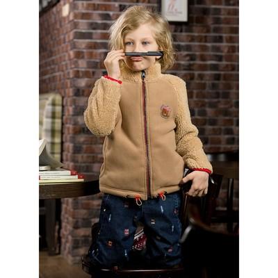 Куртка для мальчика, рост 110 см, цвет охра