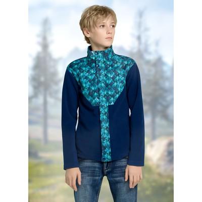Куртка для мальчика, рост 122 см, цвет джинс