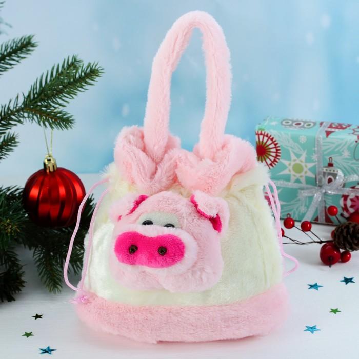 Мягкая сумочка «Хрюша», с завязками