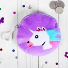 "Soft wallet ""one unicorn's furry mane"" round, MIX color"