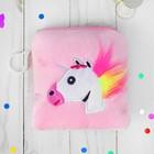 "Soft wallet ""one unicorn's furry mane"" square, MIX colors"