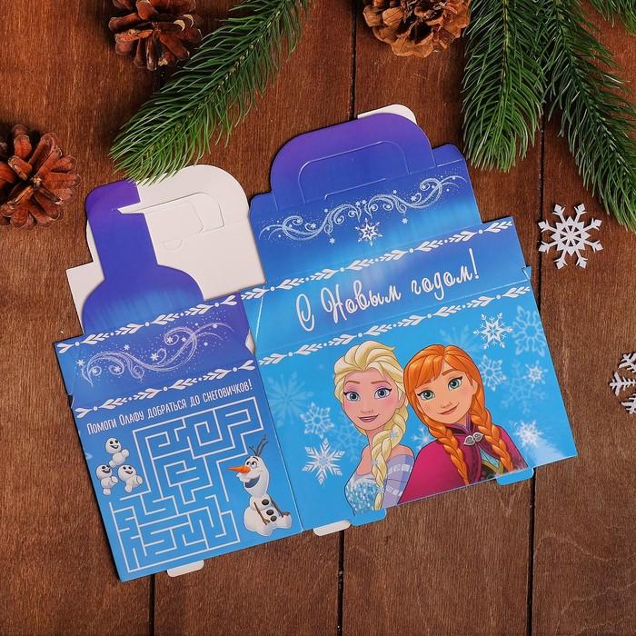 """Коробка подарочная """"С Новым годом"""", Холодное сердце, 15 х 13 х 10 см"""