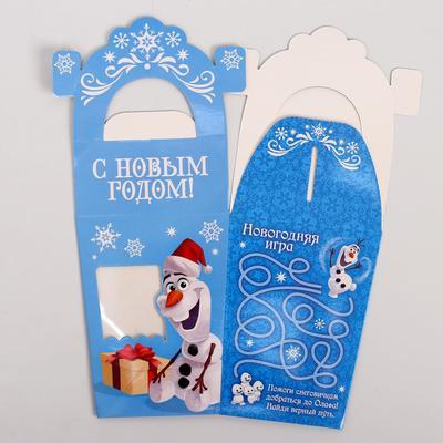 """Коробка подарочная """"С Новым годом"""", Холодное сердце, 10 х 13 х 10 см"""