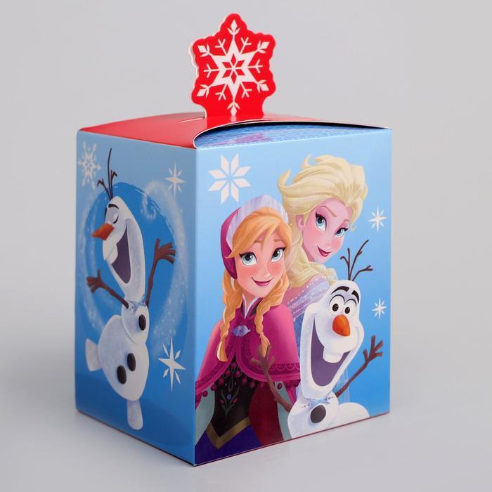 """Коробка подарочная """"С Новым годом"""", Холодное сердце, 8 х 10 х 8 см"""