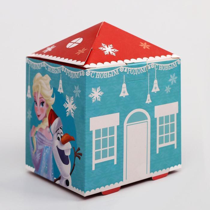 """Коробка подарочная """"С Новым годом"""", Холодное сердце, 10 х 13,3 х 10 см"""