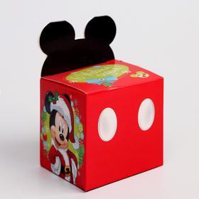 Подарочная коробка «С Новым Годом!», Микки Маус и его друзья, 8 х 8 х 8 см