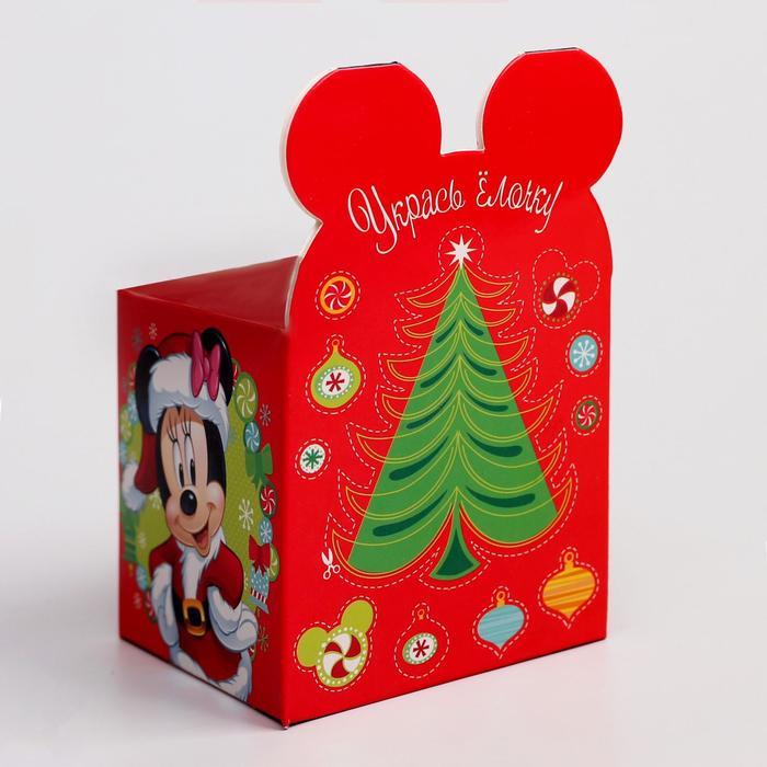 """Коробка подарочная """"С Новым годом"""", Микки Маус и его друзья, 8 х 8 х 8 см"""