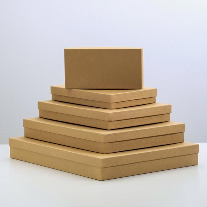 "Набор коробок 5в1 ""Крафт однотонный"", 40 х 30 х 5 - 20 х 10 х 3 см"
