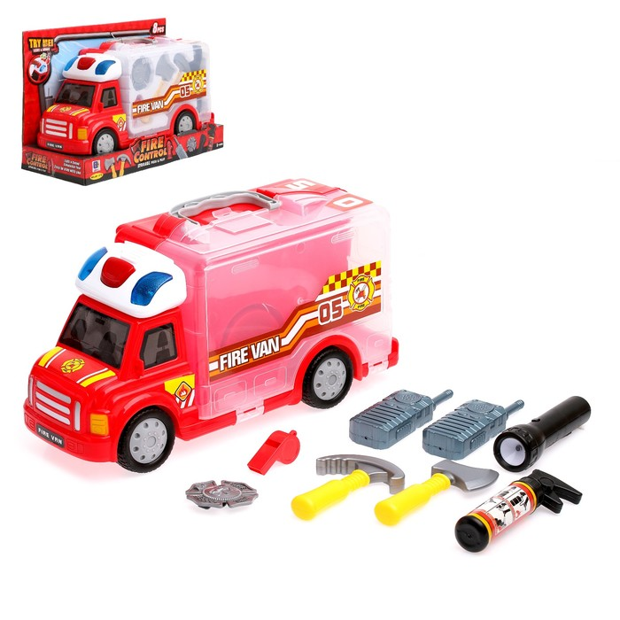 Набор пожарного «Огнеборец», 9 предметов, световые и звуковые эффекты
