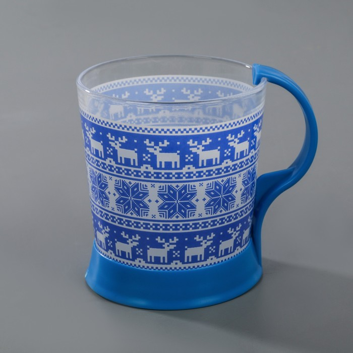 "Кружка 250 мл ""Скандинавский стиль"", цвет синий"