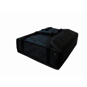 Термосумка на 2 пиццы 420 х 420 х 100 мм, фольгированная, с вентиляцией, цвет чёрный