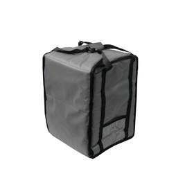 Термосумка на 9-10 пицц 350 х 350 х 500 мм, фольгированная, с вентиляцией, цвет чёрный