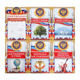 Листы - вкладыши для портфолио школьника, 6 листов, 21 х 29 см