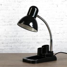 Настольная лампа 1х60вт E27 черная