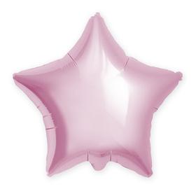 Шар фольгированный 21', звезда, цвет нежно-розовый Ош