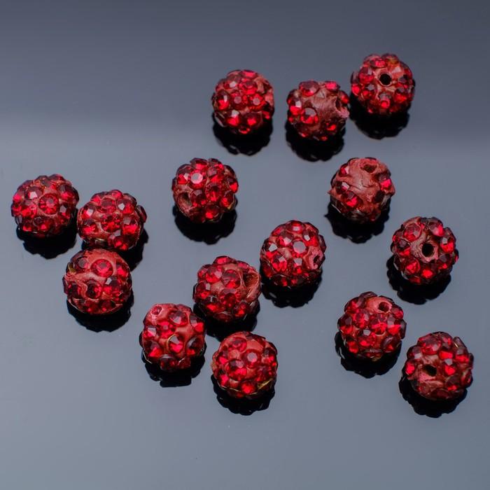 """Бусина """"ШАМБАЛА"""" 6мм (набор 15шт), цвет темно-красный"""