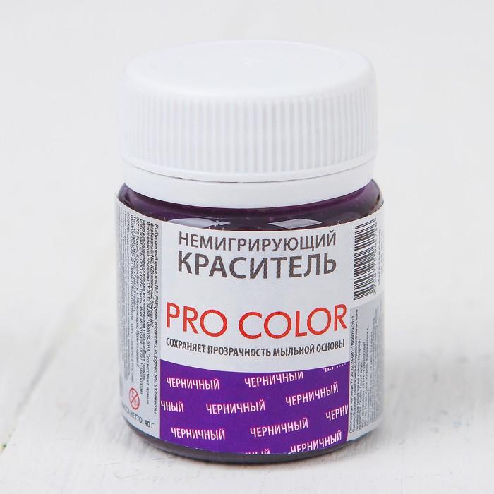 Краситель немигрирующий PRO Color, черничный, 40 г